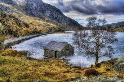 Snowdonia Photograph - Frozen Lake  by Ian Mitchell