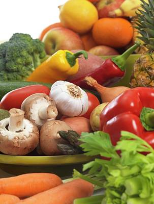 Fruit And Vegetables Print by Tek Image