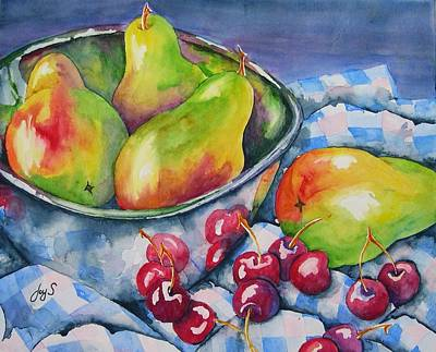 Reflection Harvest Painting - Fruit For All by Joy Skinner