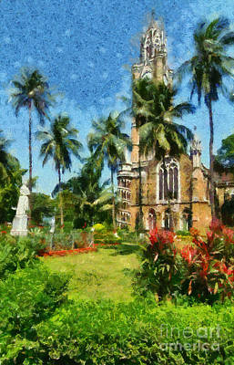 Tree Painting - Gardens Of Mumbai by George Atsametakis