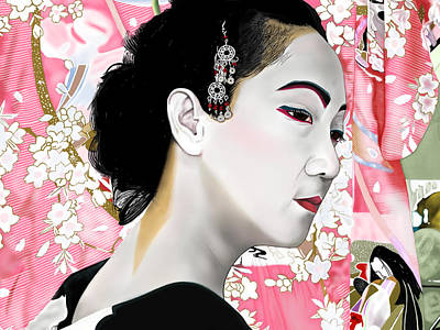 Painting - Geisha by Andrew Harrison
