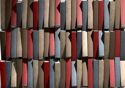 Generic Unbranded Leather Book Texture Print by Allan Swart