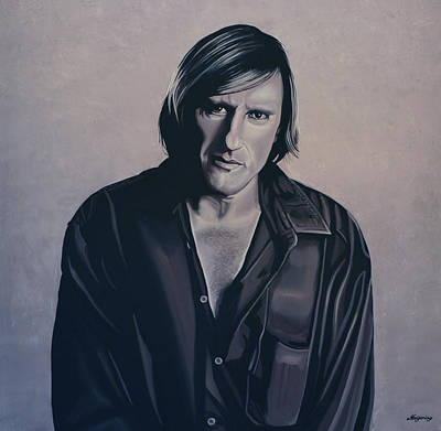 Gerard Depardieu Painting Print by Paul Meijering