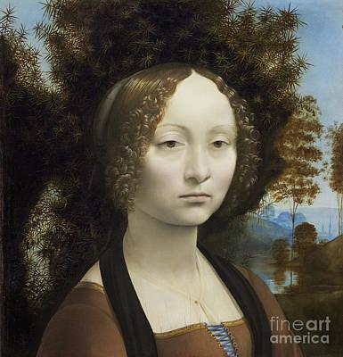 Aristocrat Painting - Ginevra De Benci by Leonardo Da Vinci