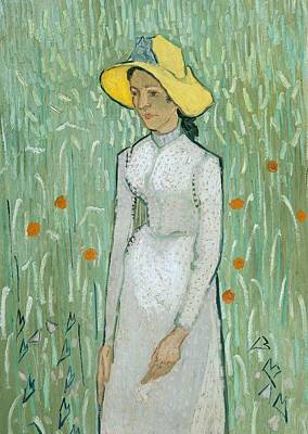 Girl In White Print by Vincent van Gogh