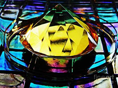 Iridescent Glass Photograph - Glass Abstract 678 by Sarah Loft