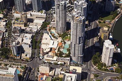 Travel Photograph - Gold Coast, Tripple Towers Of Chevron by Brett Price