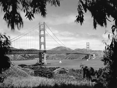 Remoteness Photograph - Golden Gate Bridge by Underwood Archives