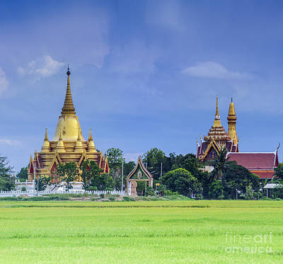 Contry Photograph - Golden Pagoda by Anek Suwannaphoom