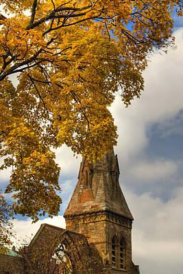 Massachusetts Photograph - Golden Steeple by Joann Vitali