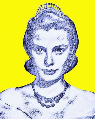 Grace Kelly Mixed Media - Grace Kelly by Art Cinema Gallery