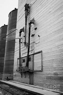 grain elevator doors and filling pipe leader Saskatchewan Canada Print by Joe Fox