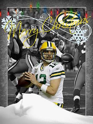 Aaron Rodgers Photograph - Green Bay Packers Christmas Card by Joe Hamilton