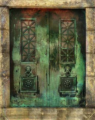 Patina Digital Art - Green Doors by Gothicolors Donna Snyder