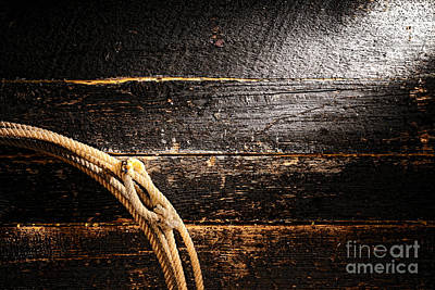 Grunge Lasso Print by Olivier Le Queinec