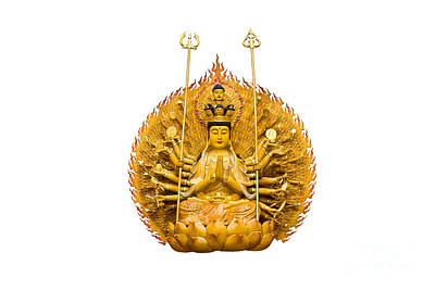 Religious Angel Art Photograph - Guanyin by Tosporn Preede