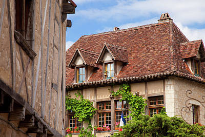 Rooftop Photograph - Half-timbered Buildings In Medieval by Brian Jannsen