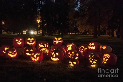 Jack-o-lantern Photograph - Halloween Pumpkins by Juli Scalzi