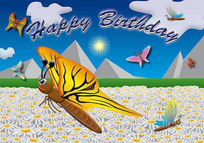 Einladung Drawing - Happy Birthday by Fabian Roessler