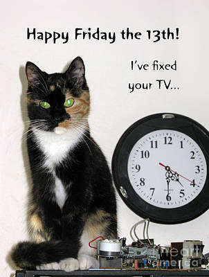 Happy Friday The 13th. Print by Ausra Huntington nee Paulauskaite