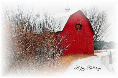Rustic Photograph - Happy Holidays by Terri Gostola
