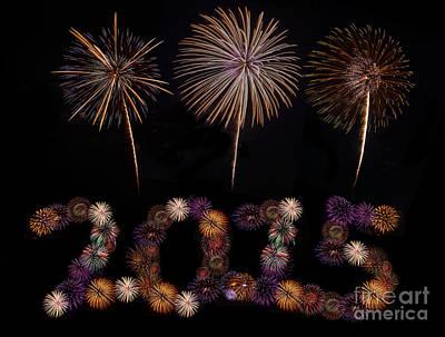 Happy New Year Print by Anek Suwannaphoom