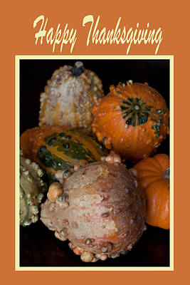 Happy Thanksgiving Print by Ivete Basso Photography