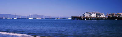 Harbor And Stearns Wharf, Santa Print by Panoramic Images