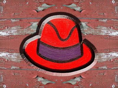 Big Red Hat Print by Patrick J Murphy