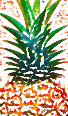 Pineapple Digital Art - Hawaiian Pineapple by James Temple