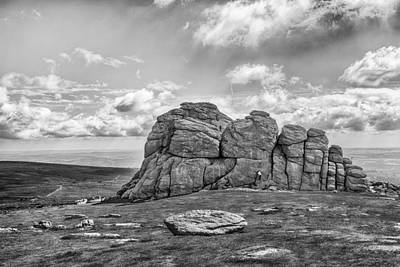B Photograph - Haytor Rock by Howard Salmon