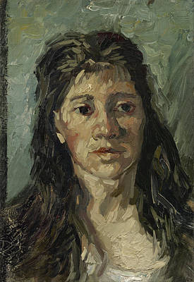 Character Studies Painting - Head Of A Woman by Vincent Van Gogh