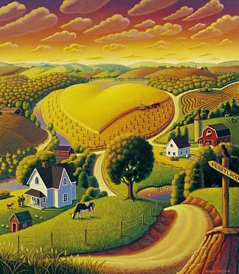 Wheat Painting - Heartland  by Robin Moline