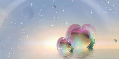 Magic Carpet Ride Digital Art - 2 Hearts by Phil Sadler