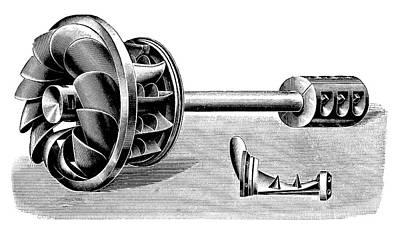 Hercule-progres Turbine Print by Science Photo Library
