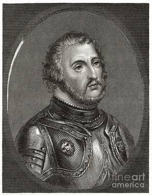 -wars And Warfare- Photograph - Hernan Cortes, Spanish Conquistador by Middle Temple Library