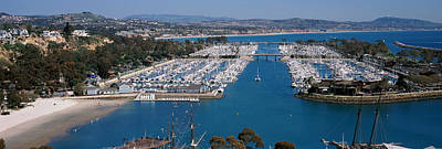 Clear Sky Photograph - High Angle View Of A Harbor, Dana Point by Panoramic Images