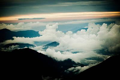Travel Photograph - Himalayas Mountain With Clouds  Panaramic by Raimond Klavins