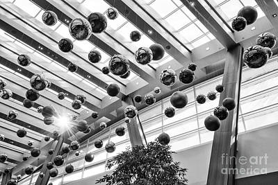 Aria Photograph - Holiday Glass Ornament Decorations At The Aria Resort And Casino by Jamie Pham