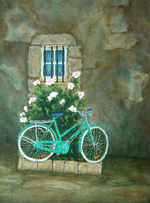 Bicycling Mixed Media - Home For Lunch In Rome by Pamela Allegretto