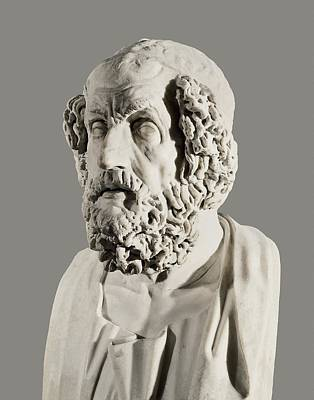 Statue Portrait Photograph - Homer 9th Century  Bc. Greek Writer by Everett