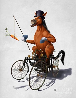Carrot Mixed Media - Horse Power Wordless by Rob Snow