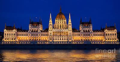 Place Photograph - Hungarian Parliament In Budapest by Michal Bednarek