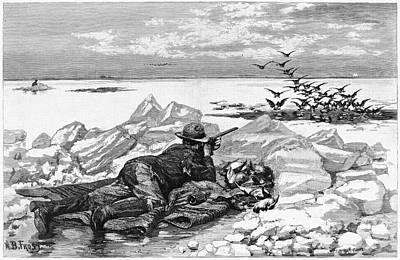 1884 Drawing - Hunting, 1884 by Granger