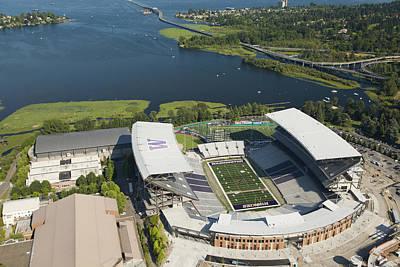 Husky Stadium At The University Print by Andrew Buchanan/SLP