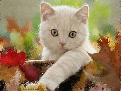 Kitten Painting - I Love Kittens by Bruce Nutting