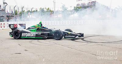 Indy Car  Print by Simon Jones