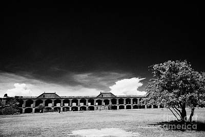Interior Courtyard Parade Ground Of Fort Jefferson Dry Tortugas National Park Florida Keys Usa Print by Joe Fox