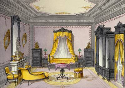 Interior Showing Furniture Print by French School