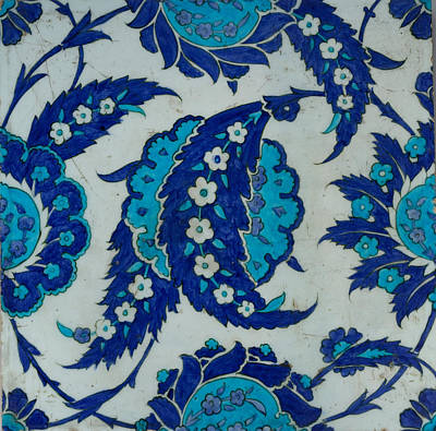 Tile Painting - Iznik Tile by Celestial Images